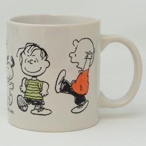 Peanuts gang dancing mug